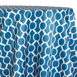 Halo Print (Lamour) Table Linen in Teal