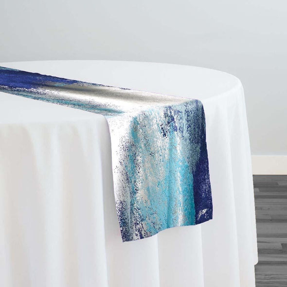 Element Jacquard Table Runner in Turquoise