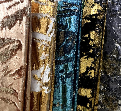 Two-Tone Sequins - Fabric By The Yard