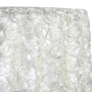Peony Bouquet Table Linen in White
