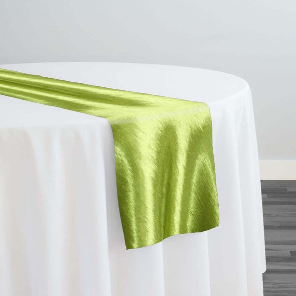Shantung Satin Table Runner in Willow Green