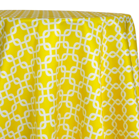 Lynx Print (Lamour) Table Linen in Yellow