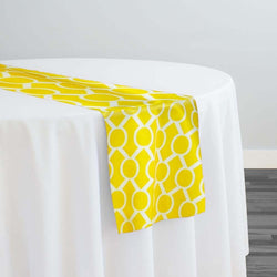 Halo Print (Lamour) Table Runner in Yellow