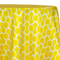 Halo Print (Lamour) Table Linen in Yellow