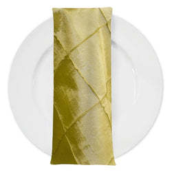 "4"" Pintuck Taffeta Table Napkin in Yellow"