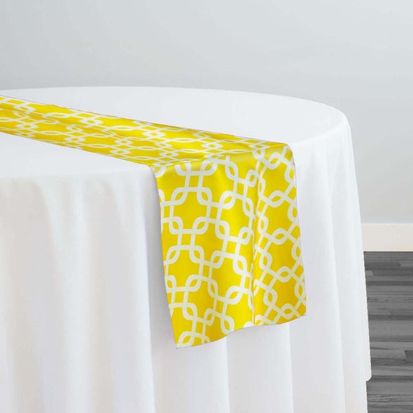 Lynx Print (Lamour) Table Runner in Yellow
