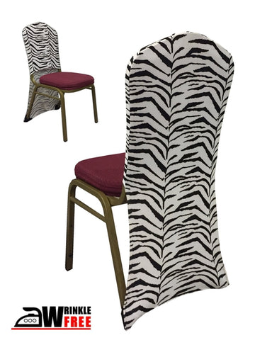 Spandex Chair Back - Zebra