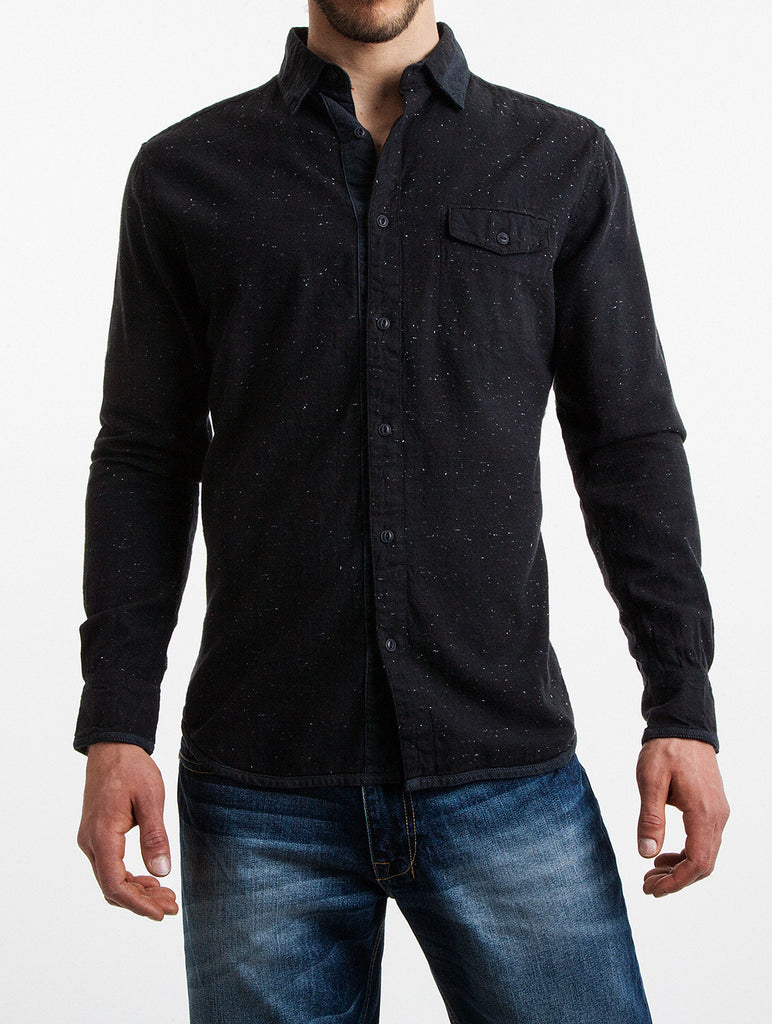 Nepe Shirt with Corduroy Contrast