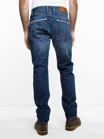 Straight Leg Back Zipper Jean