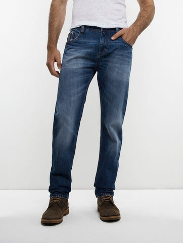 Straight Leg Zipper Jean