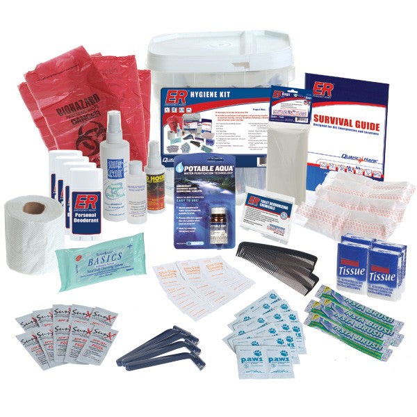 Family Hygiene Kit Deluxe 4 Person Emergency Bug Out Bags