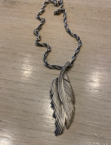 Leaf Necklace with Diamonds