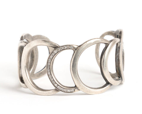 Sterling Silver Cuff with Diamonds