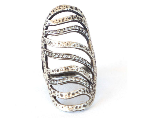 Sterling Silver and Diamond Ring