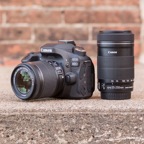 Canon EOS 80D 18-55mm, 55-250mm IS STM Kit