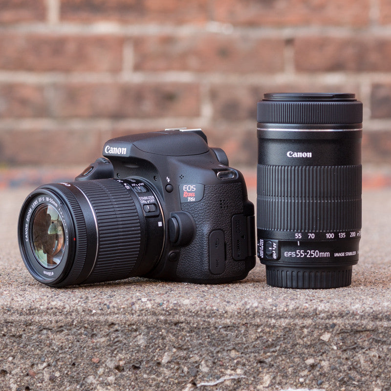 Canon EOS Rebel T6i 18-55mm and 55-250mm Kit