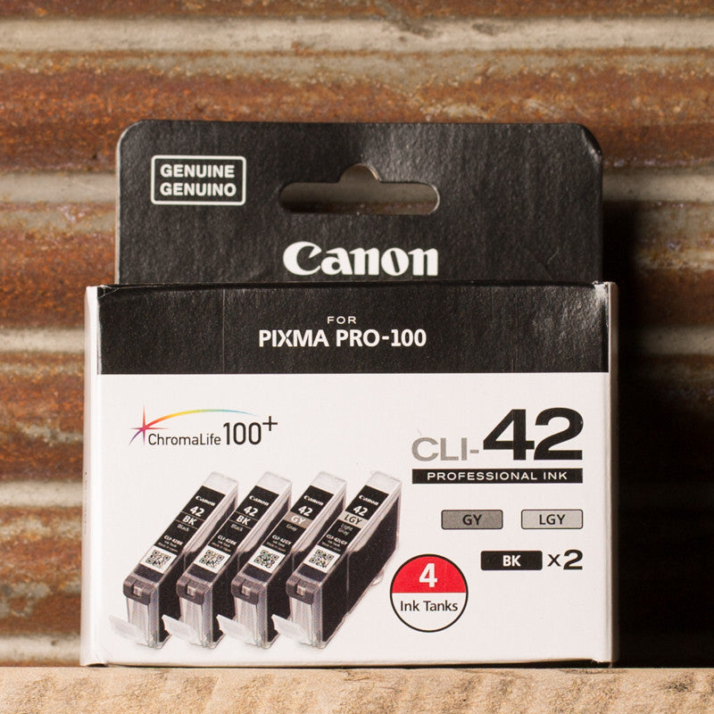 Canon CLI-42 Professional 4 Ink Pack (GY, LGY, BK x 2)