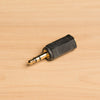 2.5mm stereo jack to 1/8 (3.5mm) stereo plug adapter
