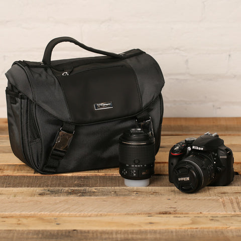 Nikon D3300 18-55mm VR and 55-200mm VR Kit with Case