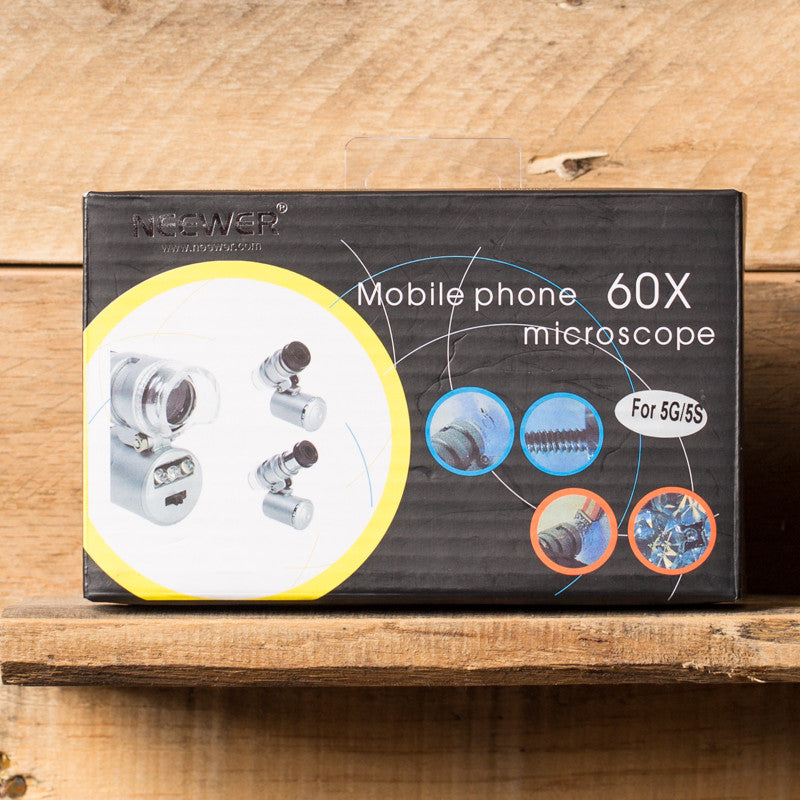Neewer Mobile Phone 60X Microscope for iPhone 5, 5S