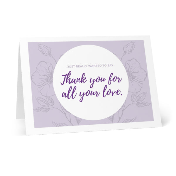 Greeting Cards - Thank You For All Your Love (8 pcs)