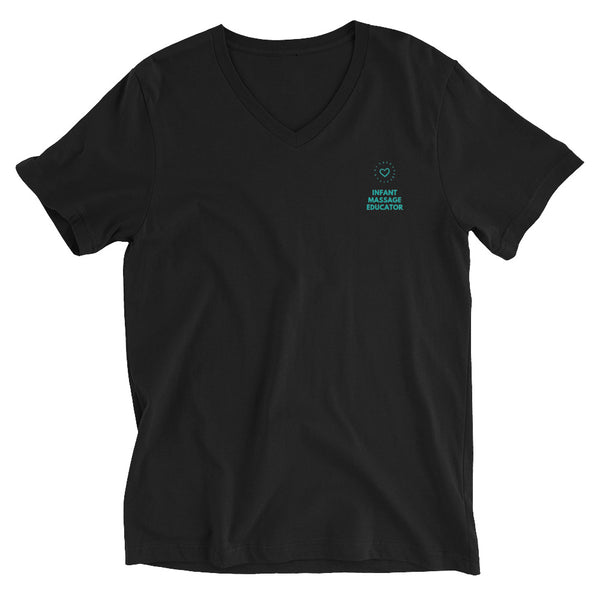 Infant Massage Educator - Unisex Short Sleeve V-Neck T-Shirt (2 Colors)