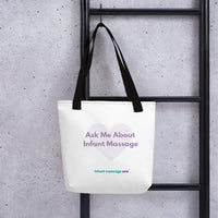 Ask Me About Infant Massage - Tote bag