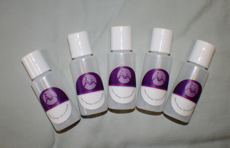 Infant Massage Oil Bottles - Five 1 Oz Empty