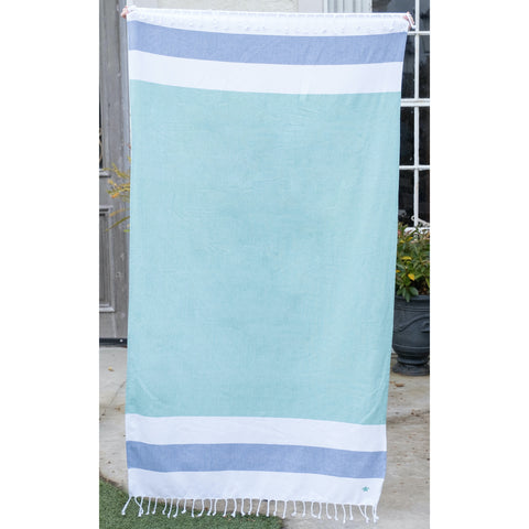 Malibu Fringe Beach Towel