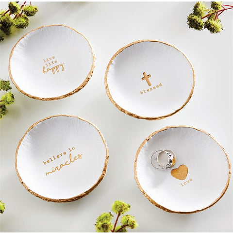 Pazitive Gold Foil Trinket Dishes