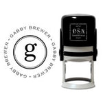 Return Address Circle Stamps & Ink