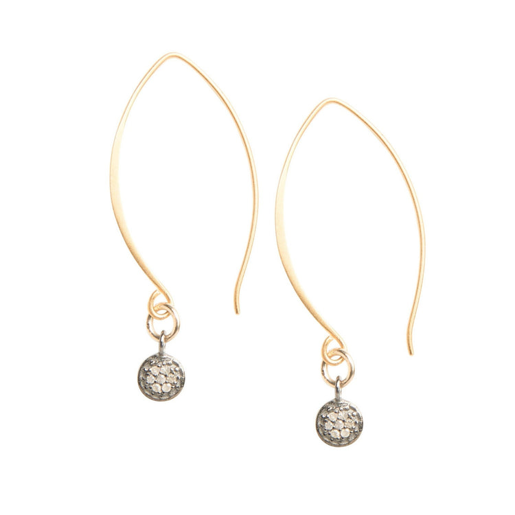 Everyday Diamonds Drop Earrings in Gold Fill