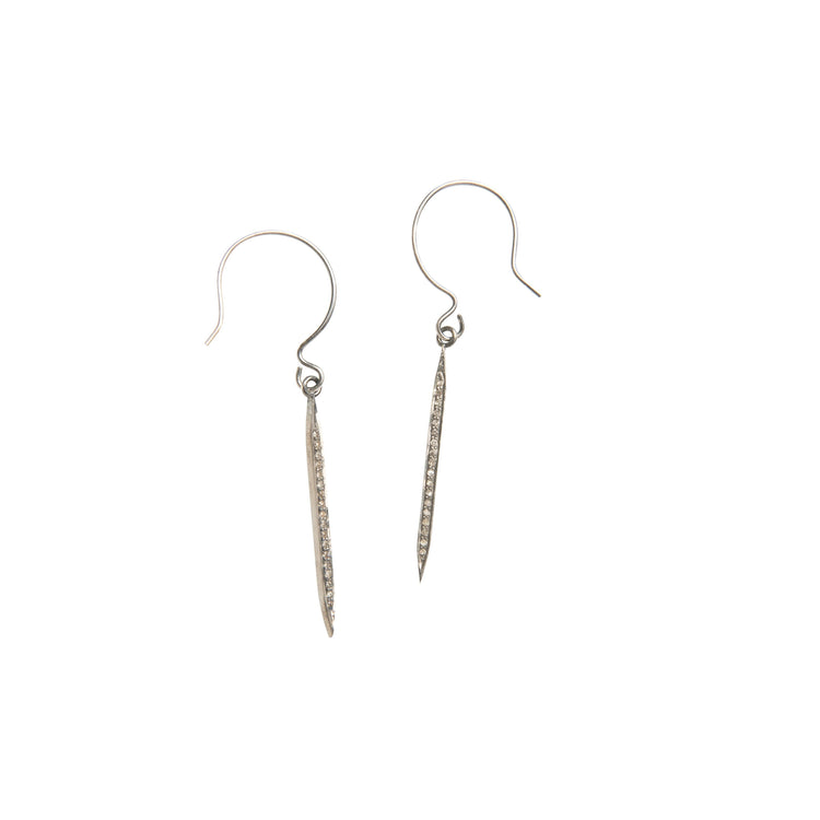 Medium Diamond Spike Drop Earrings