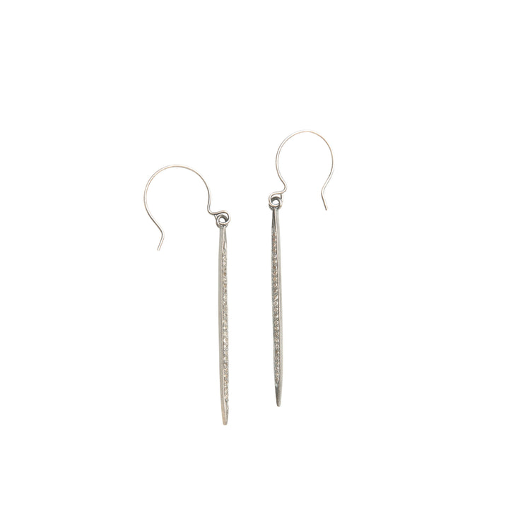 Large Diamond Spike Drop Earrings