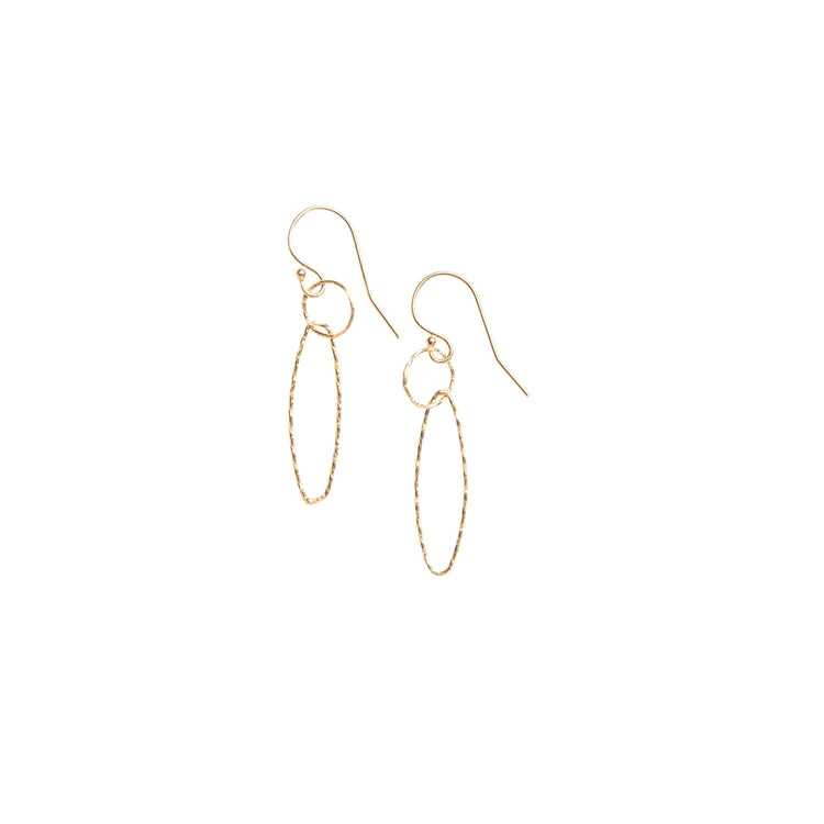 Links Gold Fill Drop Earrings