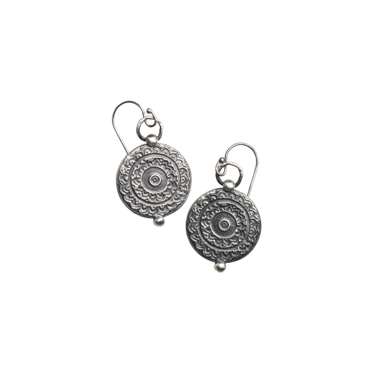Round Tapestry Earring