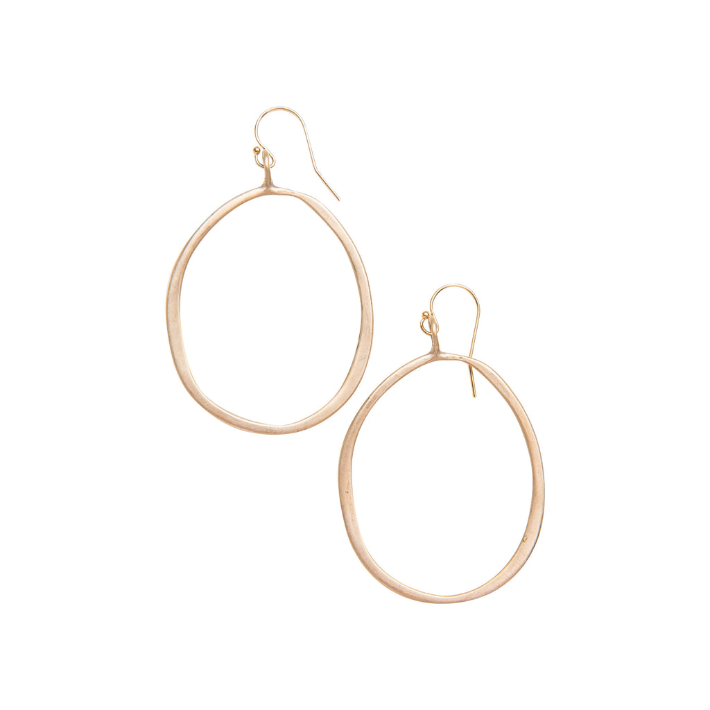 25ecef03277cd Medium Organic Hoop Earrings