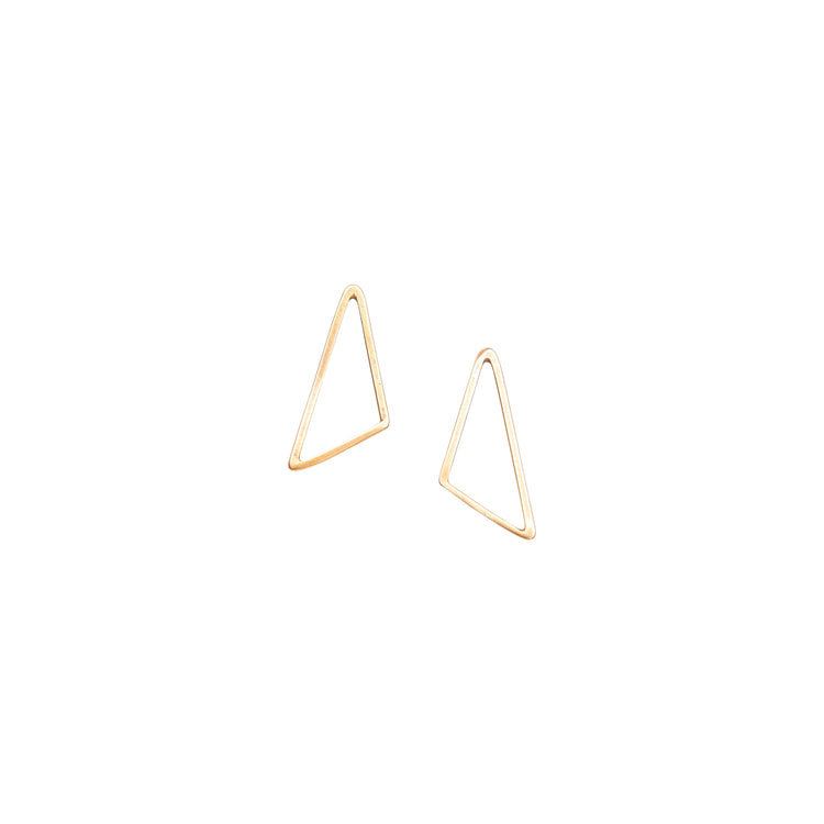 Small Triangle Stud Earrings