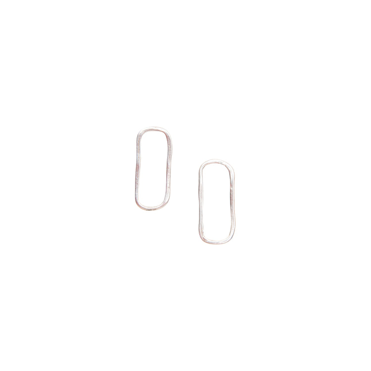 Small Rectangle Stud Earrings