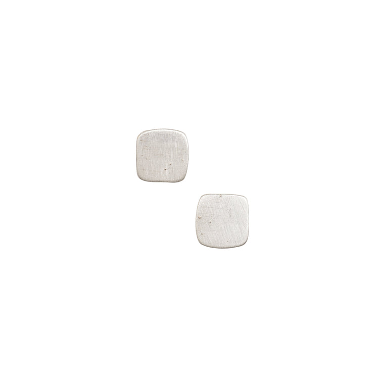 Petite Solid Square Stud Earrings