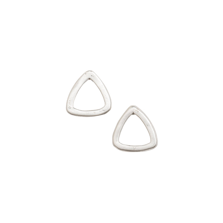 Petite Open Triangle Stud Earrings