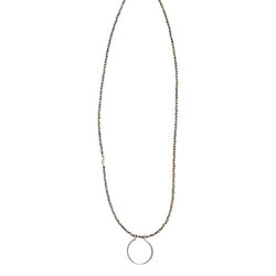 Horseshoe Gemstone Necklace in Sterling Silver