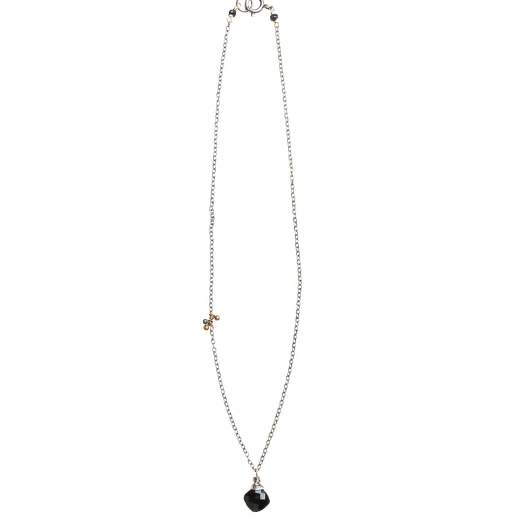Gemstone Necklace on Silver Chain