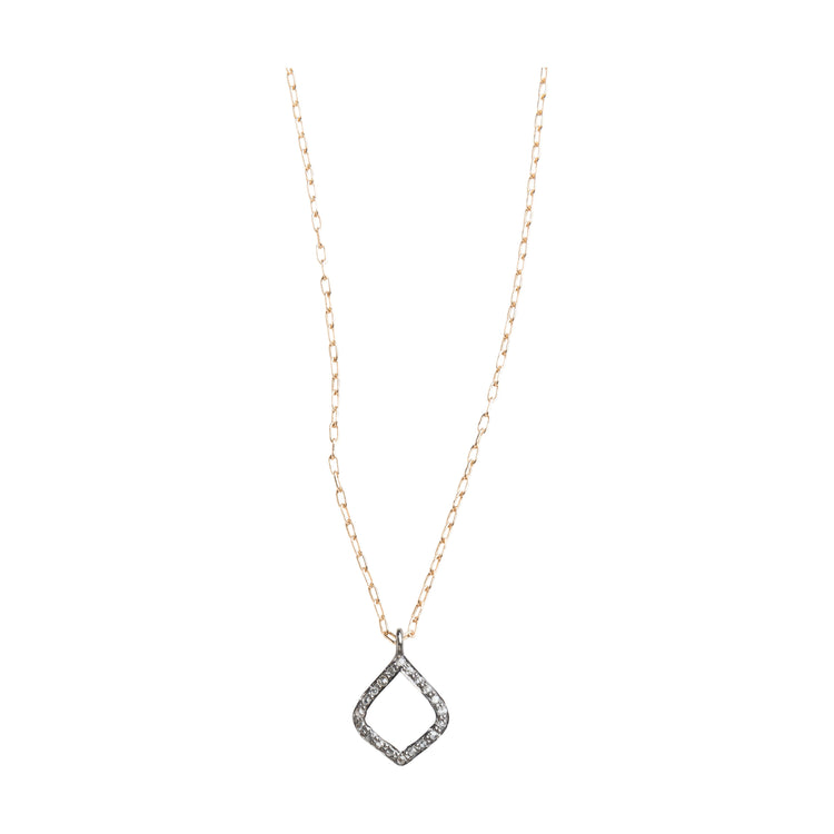 Arabesque Pave Set Diamond Pendant Necklace