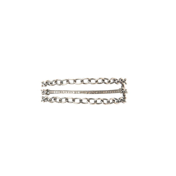 Everyday Diamonds Triple Wrap Sterling Bracelet