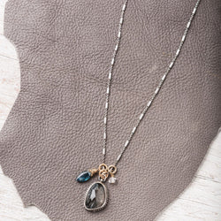 Moss Kyanite Necklace with Gemstone Accents