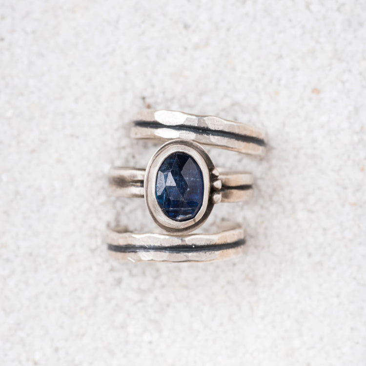 Kyanite stacking ring set