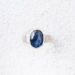Kyanite and Sterling Silver Ring