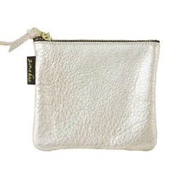 50% OFF Ginger Metallic Leather Pouch