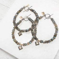 Labradorite and Pave Diamond Bracelet